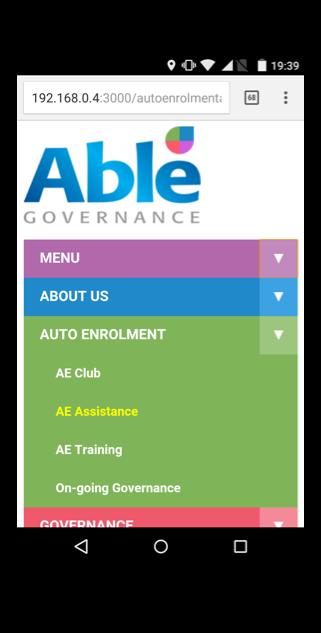 menu highlighted